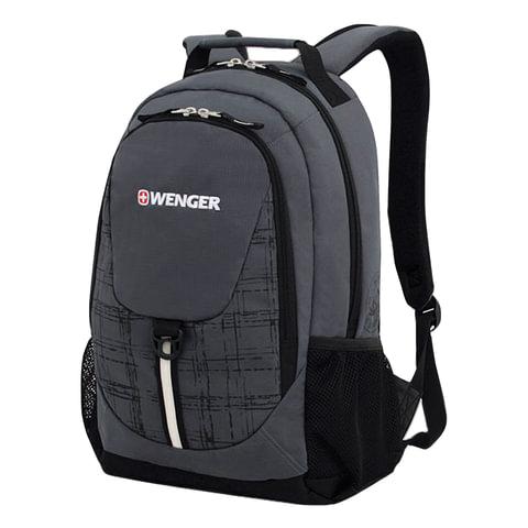 Рюкзак WENGER для старшеклассников/<wbr/>студентов, 20 л, универсальный, серо-черный, 32×14×45 см