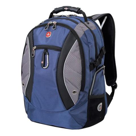 Рюкзак WENGER (Швейцария), универсальный, сине-серый, 39 литров, 35х23х48 см