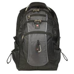 Рюкзак WENGER, универсальный, черно-серый, функция ScanSmart, 38 л, 34×23×48 см