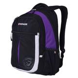Рюкзак WENGER для старшеклассников/<wbr/>студентов, 22 л, универсальный, черный, фиолетовые и серебристые вставки, 32×15×45 см, 22 л