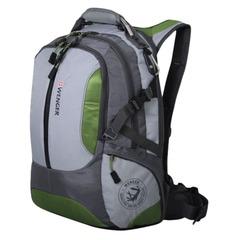 Рюкзак WENGER (Швейцария), универсальный, зелено-серый, 30 литров, 36×17×50 см
