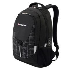 Рюкзак WENGER для старшеклассников/<wbr/>студентов, универсальный, черно-серый, 20 литров, 32×14×45 см