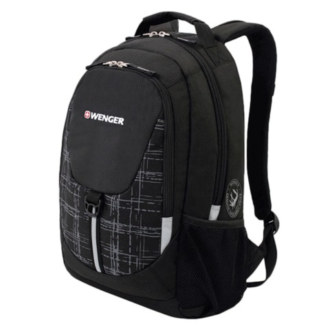 Рюкзак WENGER для старшеклассников/студентов, универсальный, черно-серый, 20 литров, 32х14х45 см