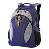 Рюкзак WENGER (Швейцария), универсальный, 22 л, сине-серый, 32×15×46 см