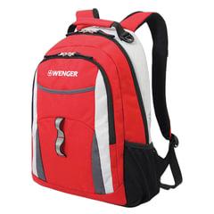 Рюкзак WENGER для старшеклассников/<wbr/>студентов, универсальный, красный, серые и серебристые вставки, 22 л, 32×15×45 см