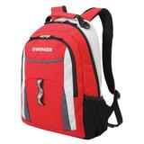 Рюкзак WENGER для старшеклассников/<wbr/>студентов, 22 л, универсальный, красный, серые и серебристые вставки, 32×15×45 см