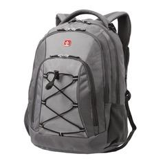 Рюкзак WENGER (Швейцария), универсальный, серый, светло-серые вставки, 28 л, 33×19×45 см