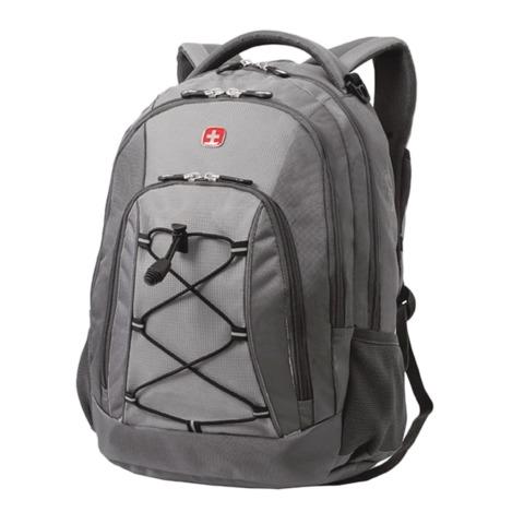 Рюкзак WENGER (Швейцария), универсальный, серый, светло-серые вставки, 28 л, 33х19х45 см