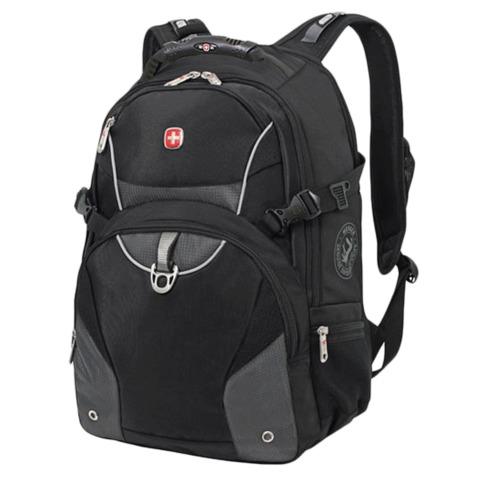 Рюкзак WENGER (Швейцария), универсальный, 32 л, черно-серый, 36×19×47 см