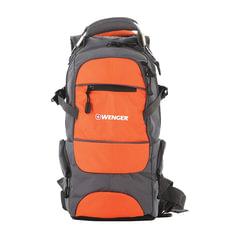 Рюкзак WENGER (Швейцария), универсальный, серо-оранжевый, 22 литра, 23×18×47 см