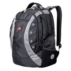 Рюкзак WENGER (Швейцария), универсальный, черно-серый, 32 литра, 36×21×47 см