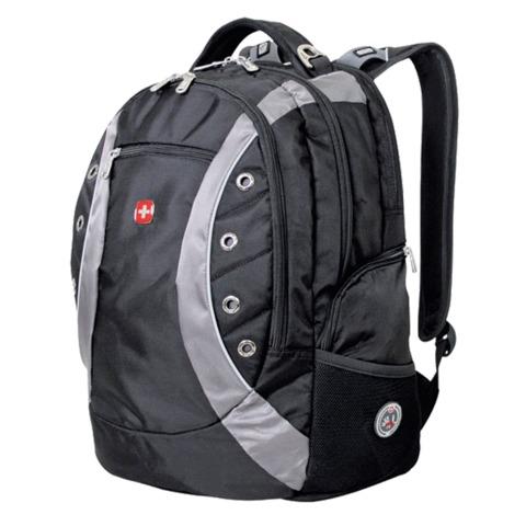 Рюкзак WENGER (Швейцария), универсальный, черно-серый, 32 литра, 36х21х47 см