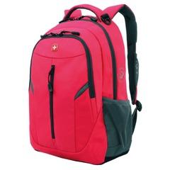 Рюкзак WENGER для старшеклассниц/<wbr/>студенток, розовый, серые вставки, 22 литра, 32×15×45 см