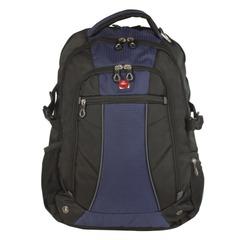 Рюкзак WENGER (Швейцария), универсальный, сине-черный, 32 литра, 36×19×47 см