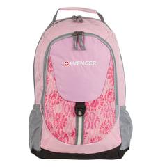 Рюкзак WENGER для старшеклассниц/<wbr/>студенток, розовый, серые вставки, 20 литров, 32×14×45 см