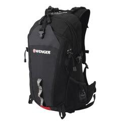Рюкзак WENGER (Швейцария), универсальный, серо-черный, 28 литров, 29×19×52 см