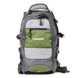 Рюкзак WENGER (Швейцария), универсальный, серо-зеленый, 23×18×47 см, 22 л