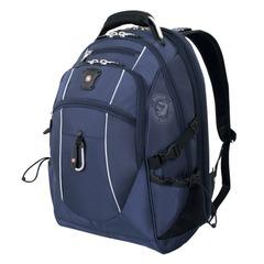 Рюкзак WENGER, универсальный, синий, серебристые вставки, функция ScanSmart, 38 л, 34×23×48 см