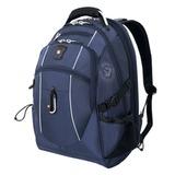 Рюкзак WENGER (Швейцария), универсальный, 38 л, синий, серебристые вставки, 34×23×48 см