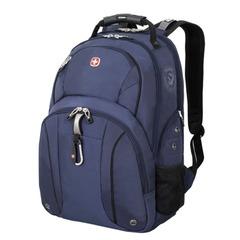 Рюкзак WENGER (Швейцария), универсальный, сине-черный, 26 литров, 34×16×48 см