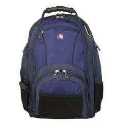 Рюкзак WENGER (Швейцария), универсальный, сине-черный, 29 литров, 35×19×44 см