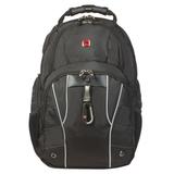 Рюкзак WENGER (Швейцария), универсальный, 29 л, черный, серебристые вставки, 34×18×47 см