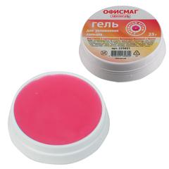 Гель для увлажнения пальцев ОФИСМАГ 25 г, c ароматом астры, розовый, Россия
