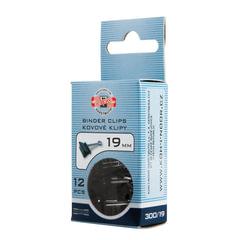 Зажимы для бумаг KOH-I-NOOR, комплект 12 шт., 19 мм, на 60 листов, черные, картонная коробка, подвес
