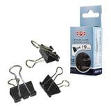 Зажимы для бумаг KOH-I-NOOR, комплект 12 шт., 19 мм, на 60 л., черные, в картонной коробке с подвесом