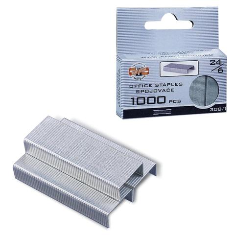 Скобы для степлера KOH-I-NOOR, №24/<wbr/>6, 1000шт., в картонной коробке с подвесом