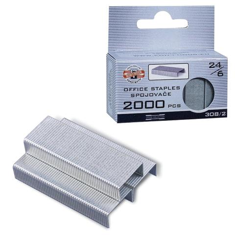 Скобы для степлера KOH-I-NOOR, №24/<wbr/>6, 2000 шт., в картонной коробке с подвесом