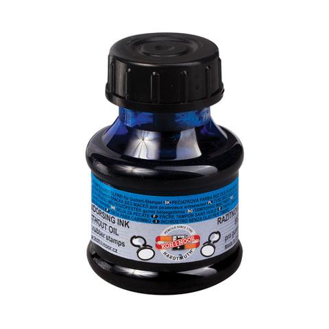 Краска штемпельная KOH-I-NOOR, синяя 50 мл, на водной основе