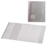 Обложки ПП для тетради и дневника, комплект 5 шт., универсальные, клейкий край, 80 мкм, 215×400 мм