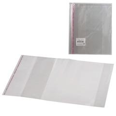 Обложки ПП для учебника и тетради А4, комплект 5 шт., универсальные, клейкий край, 80 мкм, 300×500 мм