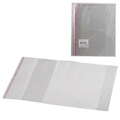Обложки ПП для учебника и тетради А4, комплект 5 шт., универсальные, клейкий край, 80 мкм, 300х500 мм