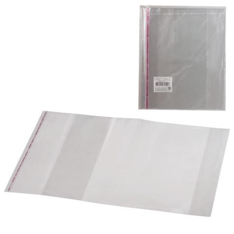 Обложки ПП для учебника младших классов в твердом переплете, комплект 5 шт., клейкий край, 80 мкм, 280×450 мм