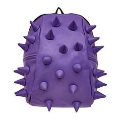 Рюкзак MADPAX «Rex 2 Half», универсальный, молодежный, 16 л, фиолетовый, «Шипы», 36×31×15 см