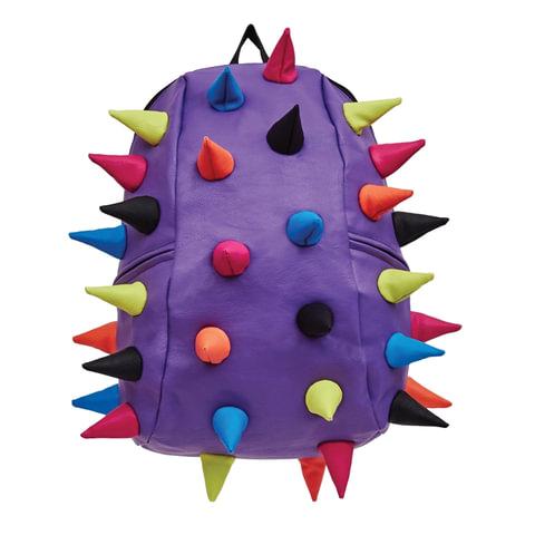 """Рюкзак MADPAX """"Rex 2 Full"""", универсальный, молодежный, 32 л, фиолетовый, """"Цветные шипы"""", 46х35х20 см"""