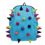 Рюкзак MADPAX «Rex 2 Half», универсальный, молодежный, 16 л, голубой, «Цветные шипы», 36×31×15 см