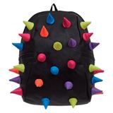 Рюкзак MADPAX «Rex 2 Half», универсальный, молодежный, 16 л, черный, «Цветные шипы», 36×31×15 см