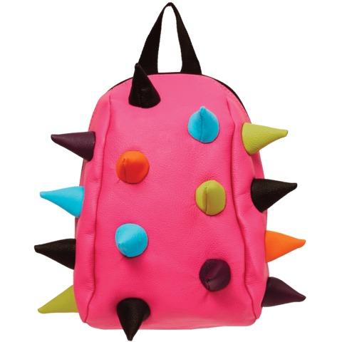 """Рюкзак MADPAX """"Rex Pint Mini 2"""" молодежный, мини, 5 л, розовый, """"Цветные шипы"""", 26х19х10 см"""