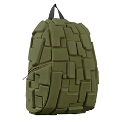 Рюкзак MADPAX «Blok Full», универсальный, молодежный, 32 л, темно-зеленый, «Блоки», 46×35×20 см