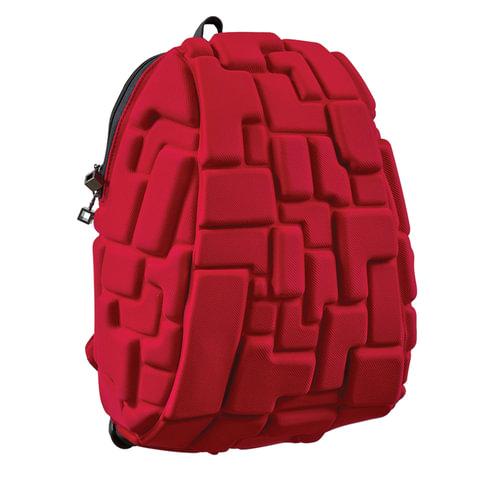 Рюкзак MADPAX «Blok Half», универсальный, молодежный, 16 л, красный, «Блоки», 36×30×15 см