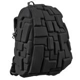 Рюкзак MADPAX «Blok Half», универсальный, молодежный, 16 л, черный, «Блоки», 36×30×15 см