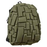 Рюкзак MADPAX «Blok Half», универсальный, молодежный, 16 л, темно-зеленый, «Блоки», 36×30×15 см