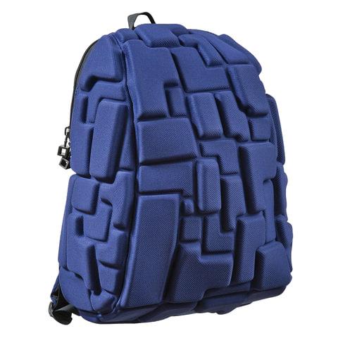 Рюкзак MADPAX «Blok Half», универсальный, молодежный, 16 л, синий, «Блоки», 36×30×15 см