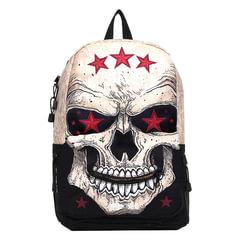 Рюкзак MOJO «Comrade», универсальный, молодежный, 20 л, черно-белый, «Череп», 43×30×16 см