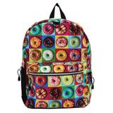 Рюкзак MOJO «Donut», универсальный, молодежный, 20 л, разноцветный, «Пончики», 43×30×16 см