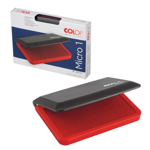 Штемпельная подушка COLOP, 50×90 мм, красная