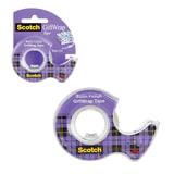 Клейкая лента 19 мм х 7,5 м, SCOTCH «Satin», полуматовая, на диспенсере, для упаковки подарков, 51 мкм
